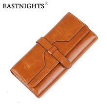 Женские кошельки EASTNIGHTS, кошелек из натуральной кожи, стильный кожаный кошелек, Женский винтажный клатч, известный бренд, дизайнер WL033