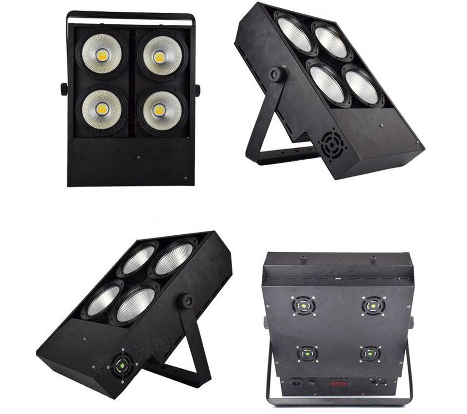 2X  400W  LED COB Lights 4x100W Blinder Light 4eye COB LED Wash Light High Power Dj Light  DMX Stage  Fast Shipping