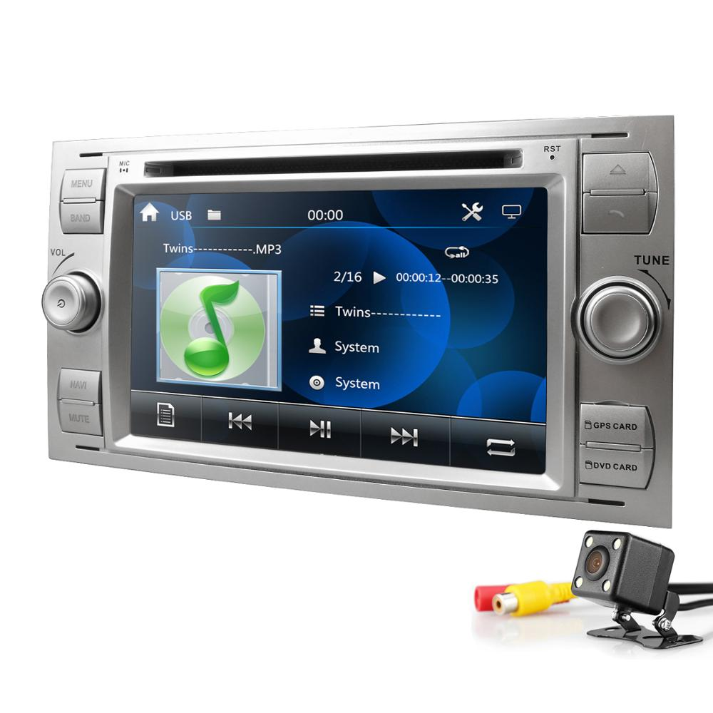 Car DVD MP5 Player For Ford Focus Mondeo Transit C MAX Fiest GPS DVR DAB Free