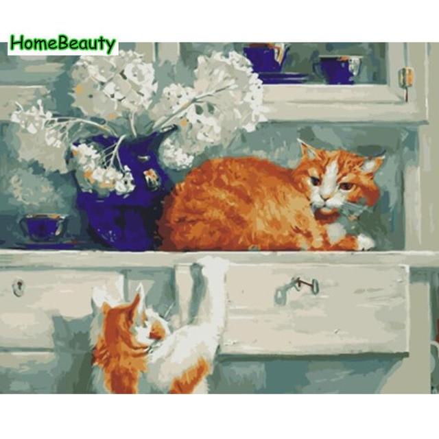 Rumah Kecantikan Kanvas Lukisan Kaligrafi Diy Acrylic Gambar Dengan