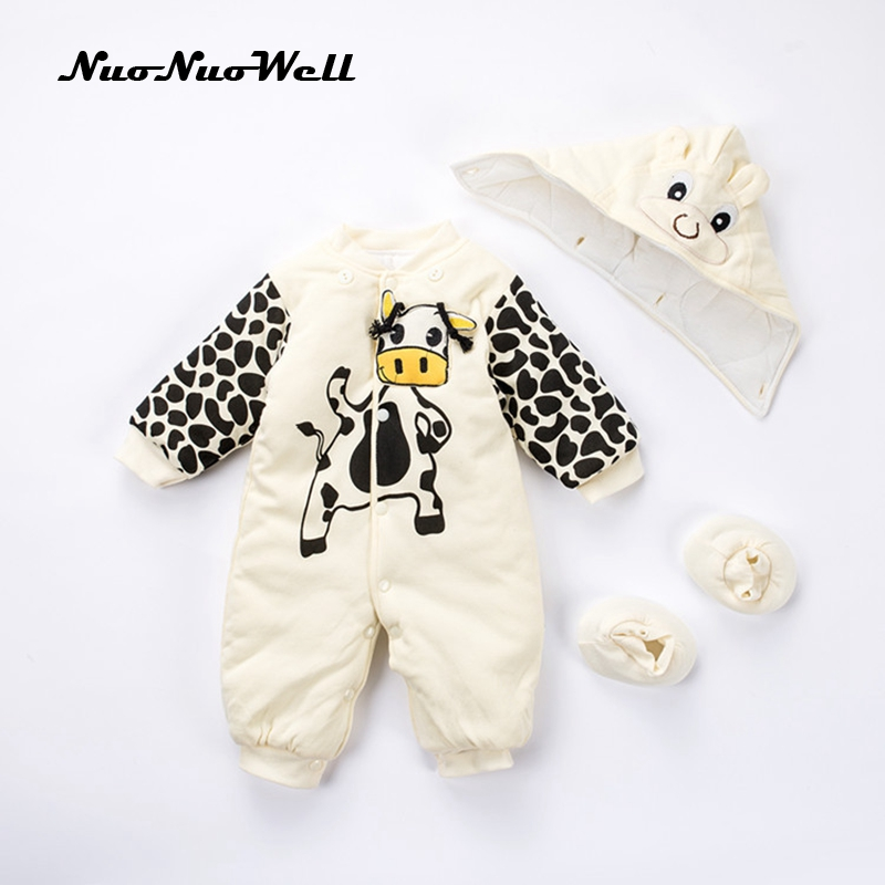 NNW 2017 NEW Baby Rompers Winter Thick Warm Baby Boy Girl Clothing Long Sleeve Hooded Jumpsuit Kids Cartoon Outwear for 0-12M new baby rompers winter thick warm baby boy clothing long sleeve hooded jumpsuit kids newborn outwear for 0 12m