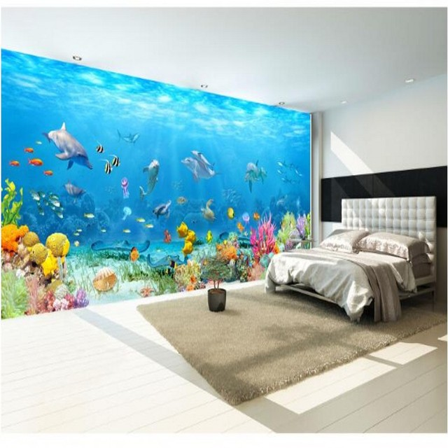Beibehang customized large frescoes deep sea views submarine beibehang customized large frescoes deep sea views submarine landscapes full house full width large panoramic background voltagebd Images
