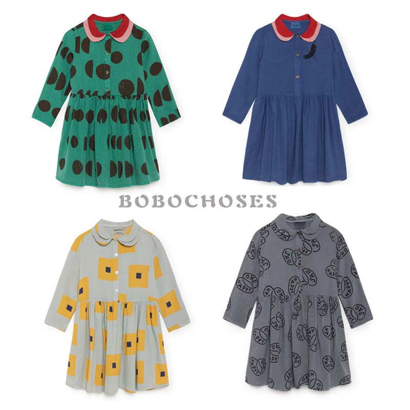 BBK Pre-sale Bobo choses dress Long sleeve Party Dresses for Girls Clothes Kids Princess Dress cotton For Girl Retro Clothes C*