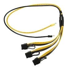 5 шт. PCI Express Графика разъем карты ПК Питание кабель Процессор molex 8pin 2 pci-e 8 (6 + 2) контактный внутренний кабель Мощность сплиттер