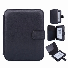 Ultra Slim Black Leather Case for for Barnes and Noble Nook 2 /3 Ebook Reader Smart Cover for Nook 6 e ink lcd screen matrix for nook barnes page 7 page 8