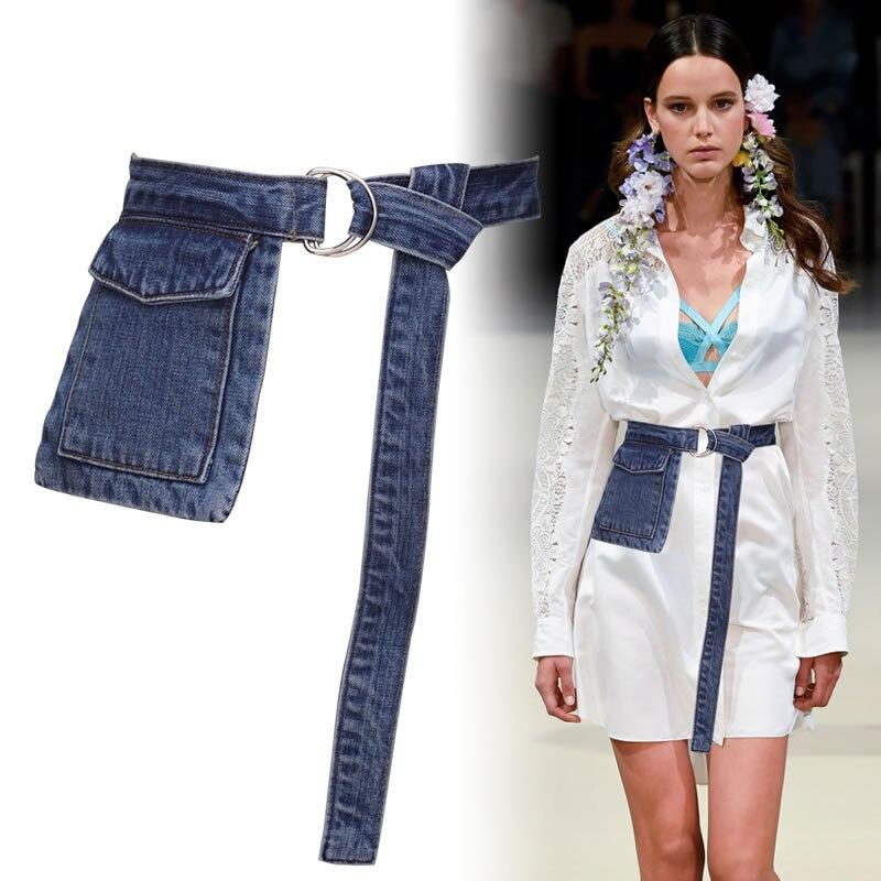 Waist Pack Fanny Pack For Women Waist Bags Casual Denim Pocket Luxury Belt Bag For Travel Money Phone Purse Hip Pack Female Belt