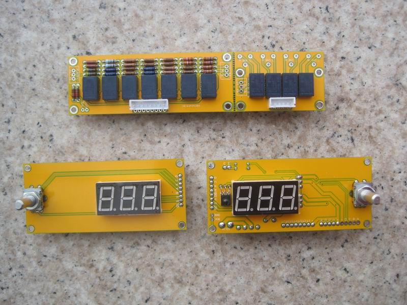 (DIY kit) JV15 HIFI Remote Volume Control Kit 128 Steps Dual Display 50K With Aluminum Remote