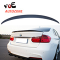 2013 2014 2015 2016 F30 ABS Plastic Unpainted Primer Performance Style Auto Car Rear Wing Lip Spoiler for BMW F30 3 Series