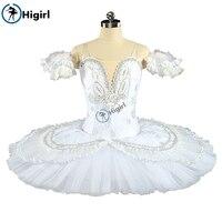 Adult Professional Ballet Tutu White Skating Dress For Girls Classical Platter Tutu Dance Costumes white Ballet DressBT9143B