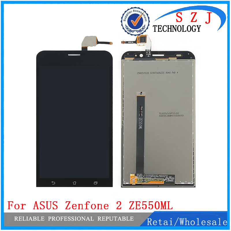 Original LCD Display + Touch Screen Digitizer Assembly for Asus Zenfone 2 ZE550ML ZE551ML ZE500KL ZE550KL ZE500CL Free Shipping for oppo r1c lcd screen display touch screen digitizer assembly by free shipping white