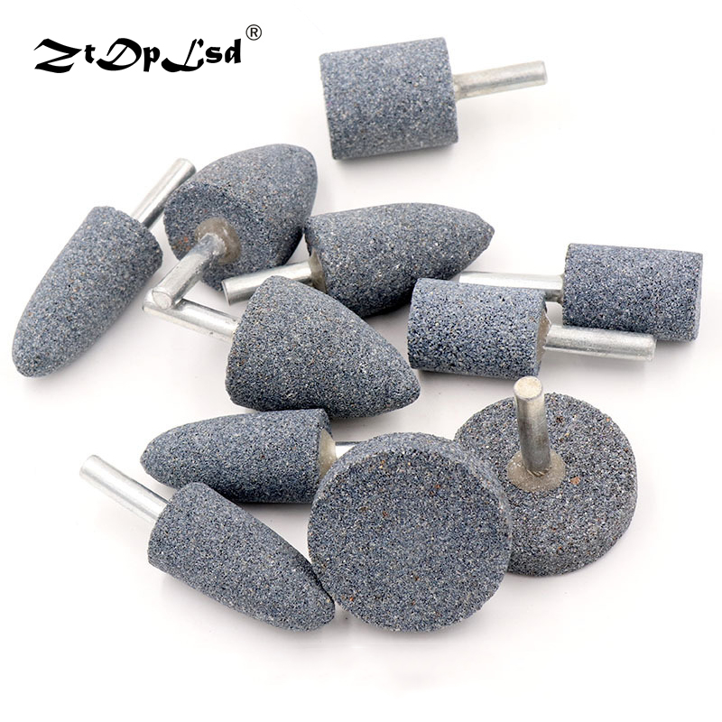 ZtDpLsd 1Pcs High Efficiency Cylinder Cone Corundum Grinding Head Polishing Polisher Head Replacement Manicure Nail Drill Bit