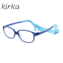 Kirka Kid Prescription Optical Glasses Frame For Boys Blue Eyewear Children With Flexible Cord