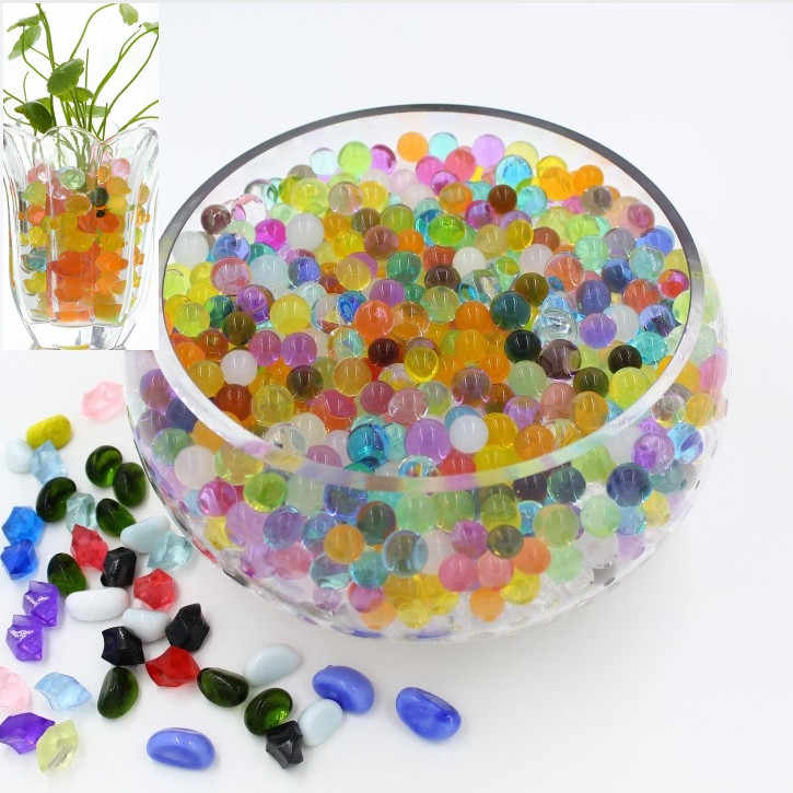 100PCS/Bag best-selling Crystal Earth Grown Beads Lovely Hydrogel Magic Gel Jelly Ball Vase Decorated Weeding Decoration