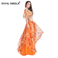 Hot Sale Free Shipping 2019 Sexy fashion swing belly dance suit bellydance costume wear Belly dance cloths Top&Skirt ZH8809