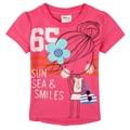 Nova camiseta de la muchacha de moda niños de dibujos animados hermosa chica de manga corta t camisa Ropa Del Bebé ropa de bebé camiseta de los niños para la muchacha