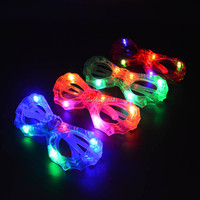 2017 New 12pcs Light Up Glasses LED Flashing Rave Wedding Rock Party Bat Man Eye Glasses Cosplay Costume Accessories Party Decor