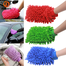 POSSBAY Universal Car Care Tool Cleaning Products Soft Washing Gloves Car Cleaning Sponge Auto Motorcycle Home Brush Wash Glove