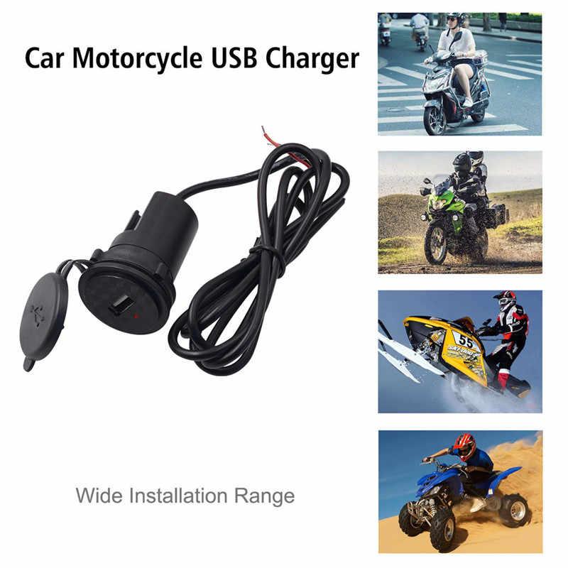 Kongyide Sepeda Motor Charger 5 V Mobile Phone GPS Motor USB Power Supply Port Socket Charge Hitam Cargador Je12