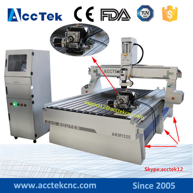China cheap cnc router 4 axis cnc engraver 3d wood carving machine price 1325 wood cnc