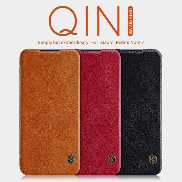 Xiaomi Redmi için Not 7 kılıf kapak çevirin, PU deri kılıf Xiaomi Redmi için Not 7 pro lüks vintage cüzdan katlanır kitap