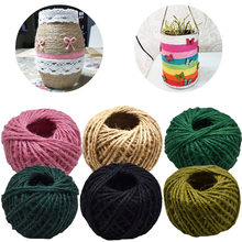 30m/roll 2mm Natural Jute Twine Cord Hemp Rope Gift Packing Strings Event Party Supplies wedding home DIY Decor Craft Parts