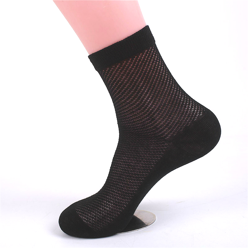 Summer new men's breathable mesh cotton black white high quality fashion casual business   socks   6 pairs