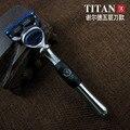 5 лезвия для бритья-бритва, бритвы для мужчин, мужская бритья, титан бритвы бесплатная доставка