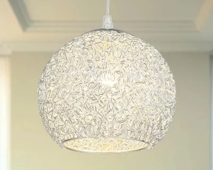 New Modern Nordic E27 Round Aluminum Wire BALL Pendant Lamp Light Fixture for Dining room Kitchen bar Lighting free shipping