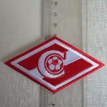 2 шт./лот Футбол fussball клубная команда Spa-rtak логотип утюг на патч Aufnaeher аппликация Buegelbild вышитые