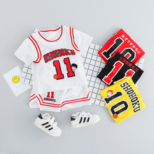 2019 Summer Toddler Boy Sports Wear Clothing Set Children Football Uniforms Clothing Basketball T-shirt Boys Suit Kids Clothes kids summer clothes boys set 2017 football print boy sports suit number letter t shirt drawstring shorts boy clothes sets cf432 page 1