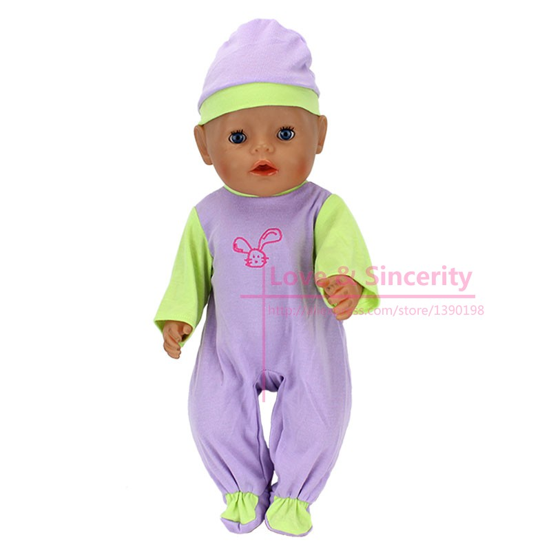 Fashion-Dolls-Jump-Suits-With-The-Hat-Fit-For-43cm-Baby-Born-Zapf-Doll-Reborn-Baby-Clothes-17inch-Doll-Accessories-2