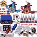 Top Tattoo Kit completo de maquillaje permanente digitales máquina de tatuaje conjunto y arte corporal Kits de tatuaje profesional YLT-73 fuentes del tatuaje