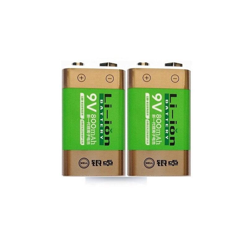 Cncool WholeSale Rechargeable Batteries 800mAh Li-ion 9V For Smoke Detectors Wireless Microphones Rechargeable Batteries