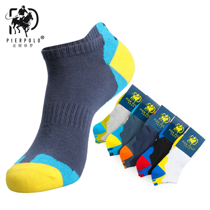 PIERPOLO 2018 new mens casual cotton socks striped fight mens socks breathable deodorant cotton socks manufacturers wholesale