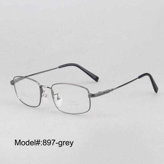 897 rectangle aleación titanium montura completa anteojos ópticos gafas graduadas gafas de miopía gafas