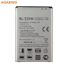 Agaring Original BL-53YH Battery For LG G3 F400 F460 D858 D830 VS985 BL-53YH Genuine Replacement Phone Battery 3000mAh replacement 3 8v 7000mah li ion battery back case for lg g3 bl 53yh d855 vs985 white