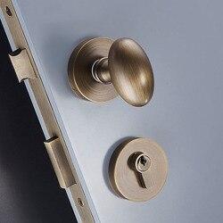 1 zestaw w kształcie jajka/czarny stałe mosiądz blokada drzwi/zamki do drzwi pokrętło do wnętrza drzwi sypialni podział do drzwi z brązu blokady JF1925