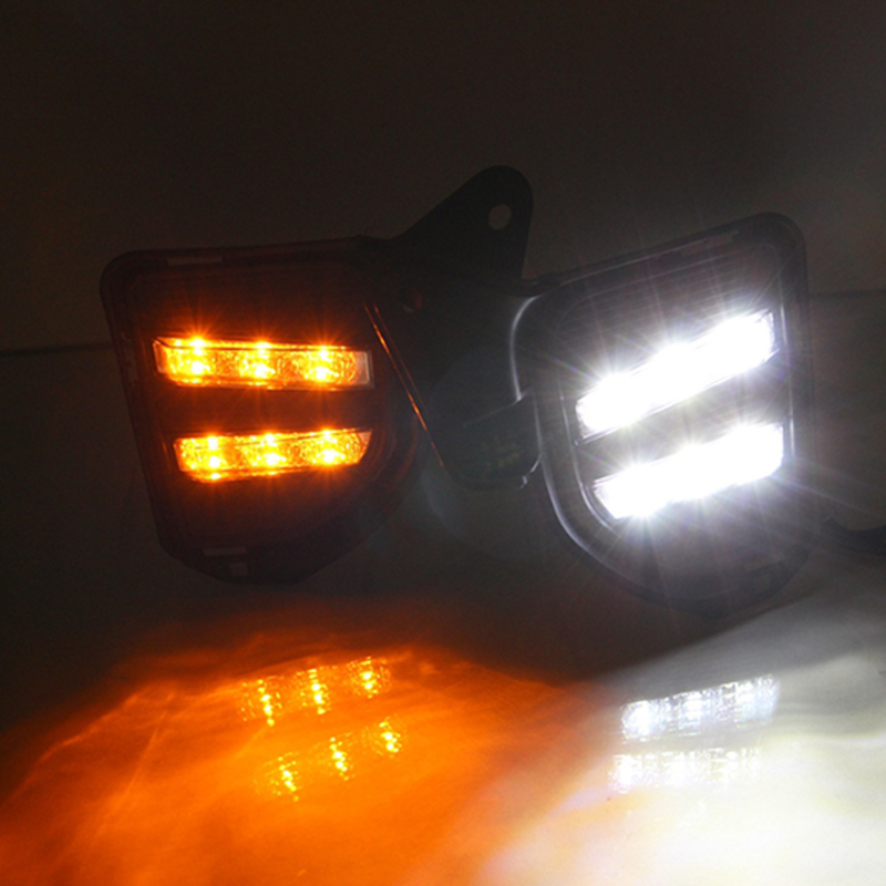 Car Flashing 1pair LED Daytime Running Light For Toyota Hiace 2014 2015 2016 Car Accessories Waterproof