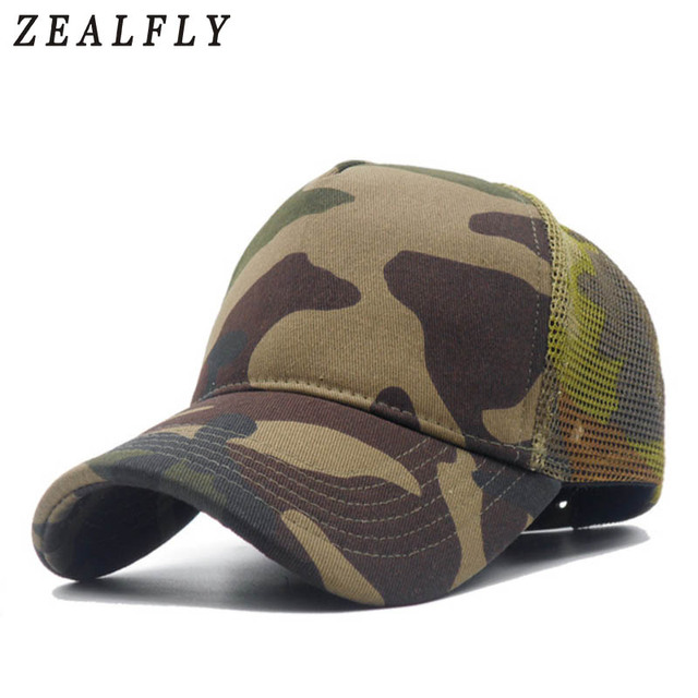 NEW Men Camo Mesh Baseball Caps for Spring Summer Outdoor Jungle Camouflage  Net Base Ball Snpaback Hats Wholesale Mens Hat 03b53503ac65