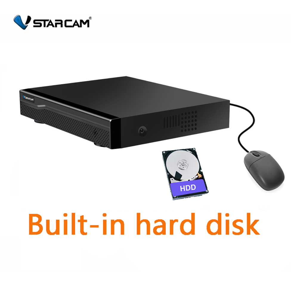 Vatracam 4CH 8CH NVR 1T 2T 4T hard drive With Vstarcam NVR Best Support WIFI IP