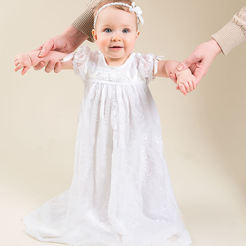 European and American Court Infant 100 Days Full Moon Memorial Ceremony Wash The Dress Long Lace Childrens Dressto Wear The HatEuropean and American Court Infant 100 Days Full Moon Memorial Ceremony Wash The Dress Long Lace Childrens Dressto Wear The Hat