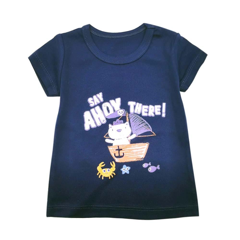 Children's Boy T-Shirt Summer Cotton Tops T-Shirt Clothes Children's Clothing Print T-Shirt Short Sleeve Casual Wear