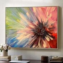 Профессиональный художник ручной работы Высокое качество красочная абстрактная картина маслом с цветком на холсте ручной работы без рамы Цветочная картина маслом