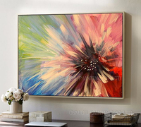 Professional Artist Handmade High Quality Colorful Abstract Flower Oil Painting on Canvas Handmade Unframed Floral Oil Painting