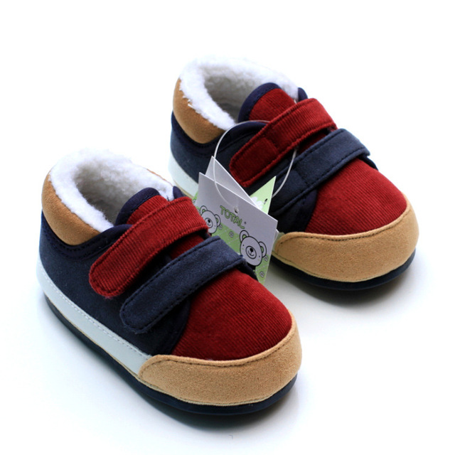 Baby First Walkers Baby Shoes Fashion Flock Patch Winter Warm Toddler Shoes