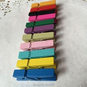 Image 2 - סיטונאי מיני ליבנה עץ בגדי סיכות, (5000 יח\חבילה) מיני גדלים סיכות, מיני קליפים, צבעוני, 3.5 cm, אמנות & קרפט אבזרים