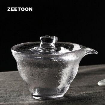 Japanese Style Hammer Pattern Gaiwan Heat-resistant Glass Kung Fu Tea Set Teapot Tea Cup Tea Bowl Master Cup Creative Home Decor