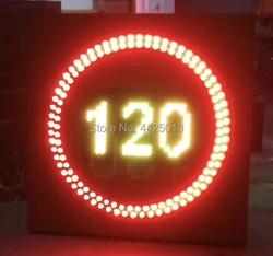 2018 China 30 to 120 hours / 1 hour LED traffic speed limit sign  LED highway speed limit LED traffic signage,