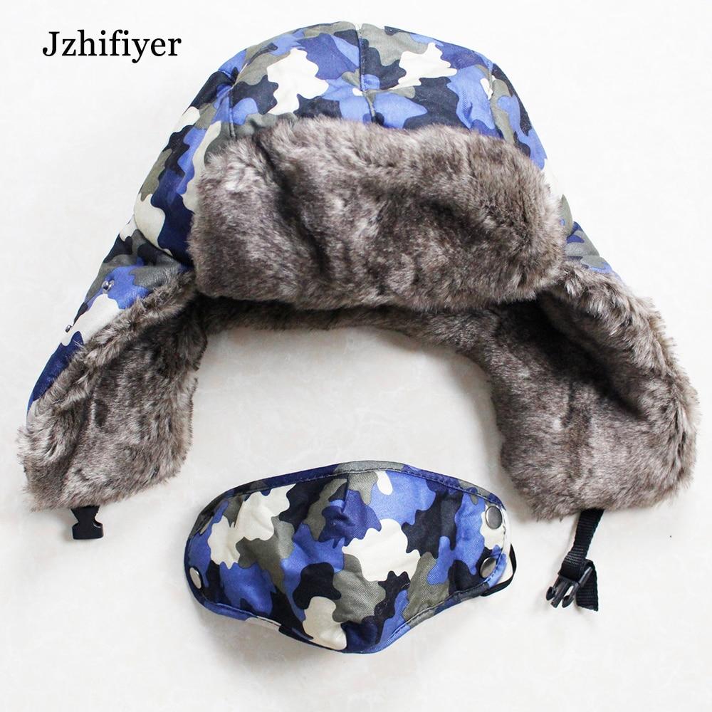 7562f830 winter women men bomber hats fur earflaps trooper trapper hats magic bomber  warm camouflage hats caps bomber russian hat