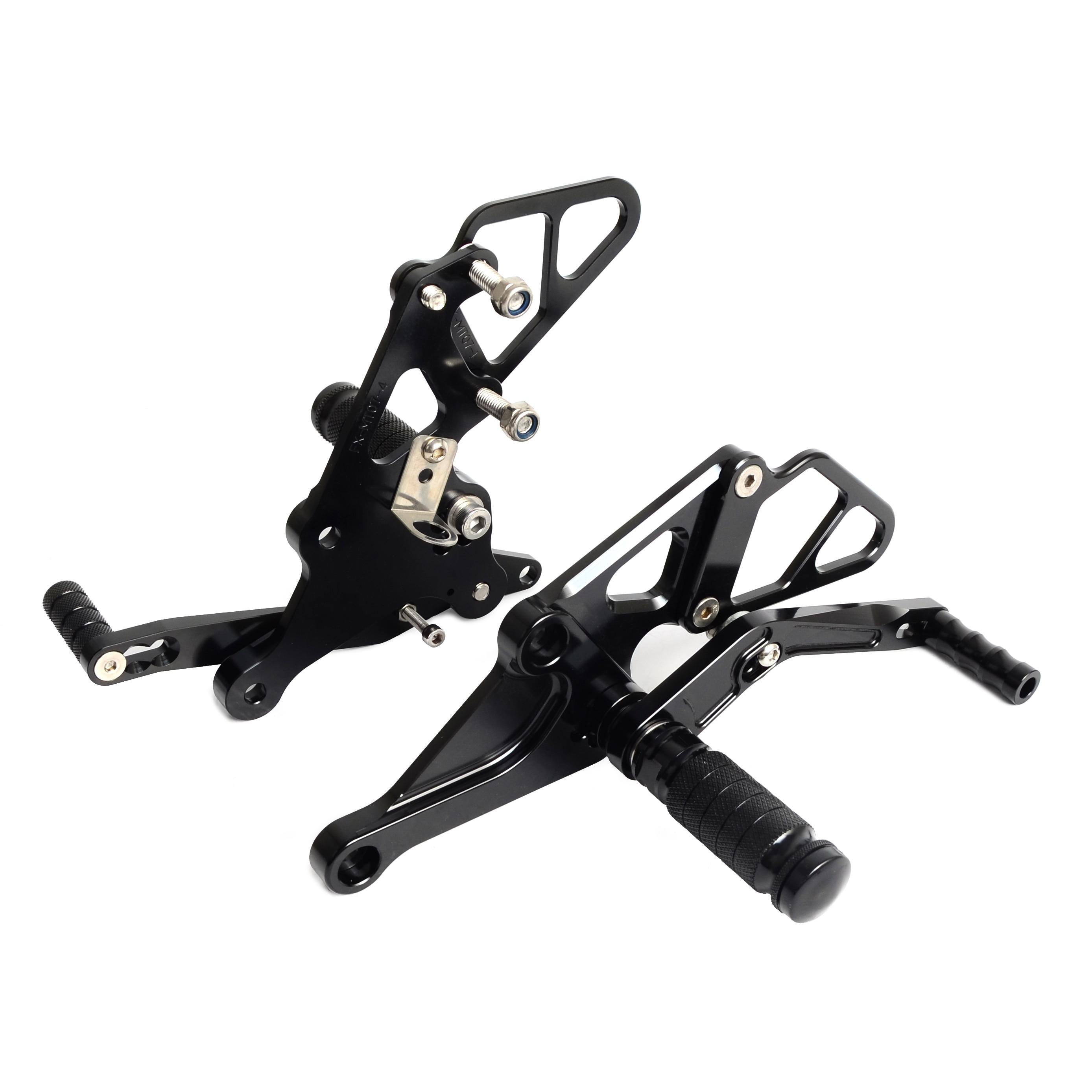 New CNC Billet Racing Adjustable Rearset Foot Pegs Rear Sets For Yamaha  MT-07 FZ-07 MT07 FZ07 2013 2014 2015 2016